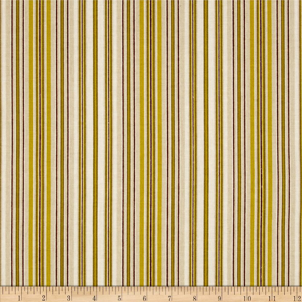 Madison Home Decor Monahue Stripes Lime