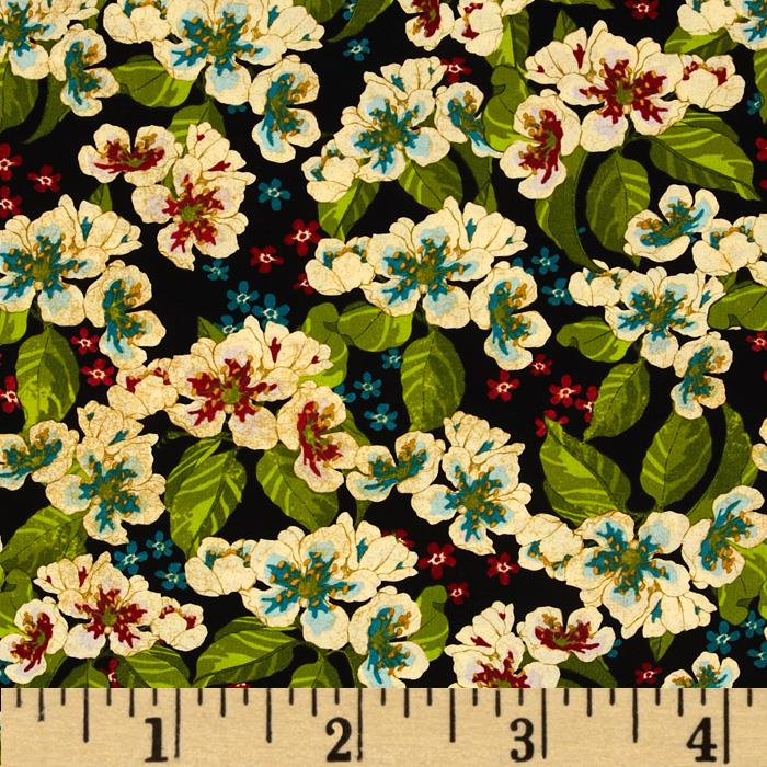 Nature's Expressions Decorative Medium Floral Black/Multi