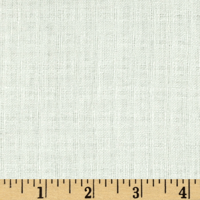 Drapery Sheer Linen White Fabric