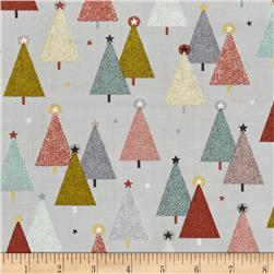 Modern Metallic Christmas Trees Silver