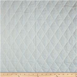 Home Accents Pre-Quilted Ticking Stripe Sky Blue