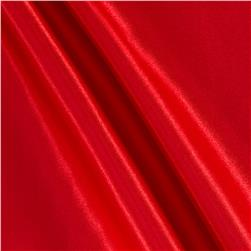 Poly Charmeuse Satin Red Fabric