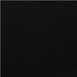 Organic Cotton Interlock Knit Black Fabric