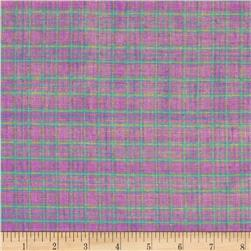 Metallic Shot Cotton Plaid Pink/Green