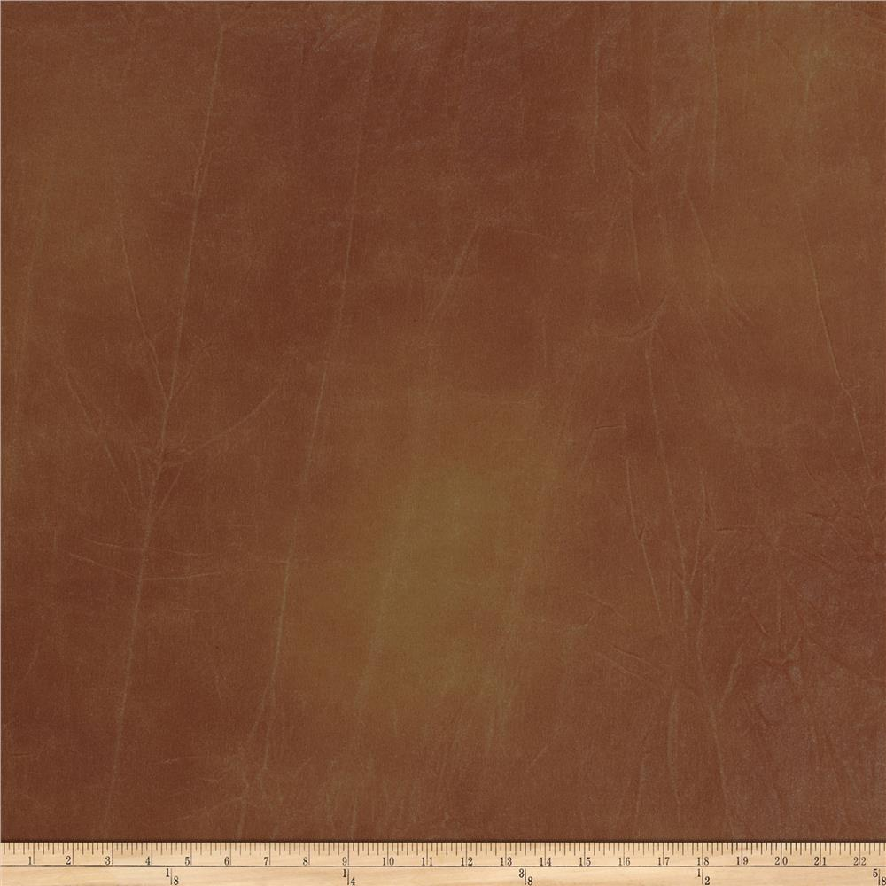 Fabricut Culture Club Faux Leather Terra Cotta
