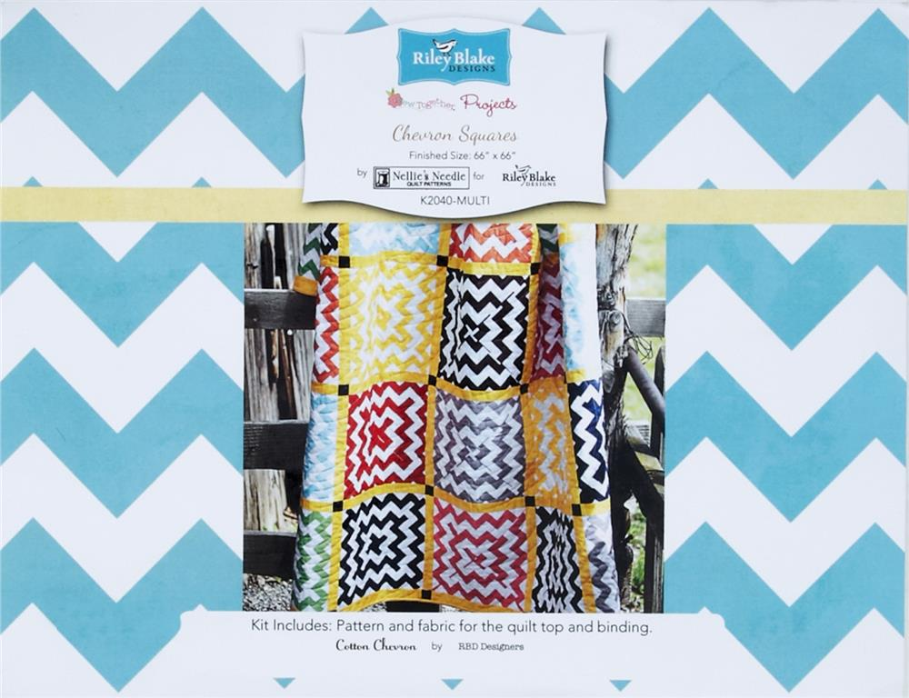 Riley Blake Chevron Squares Quilt Kit Multi