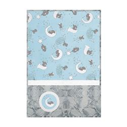 Minky Lullaby Cuddle Kit Lucky Star Blue