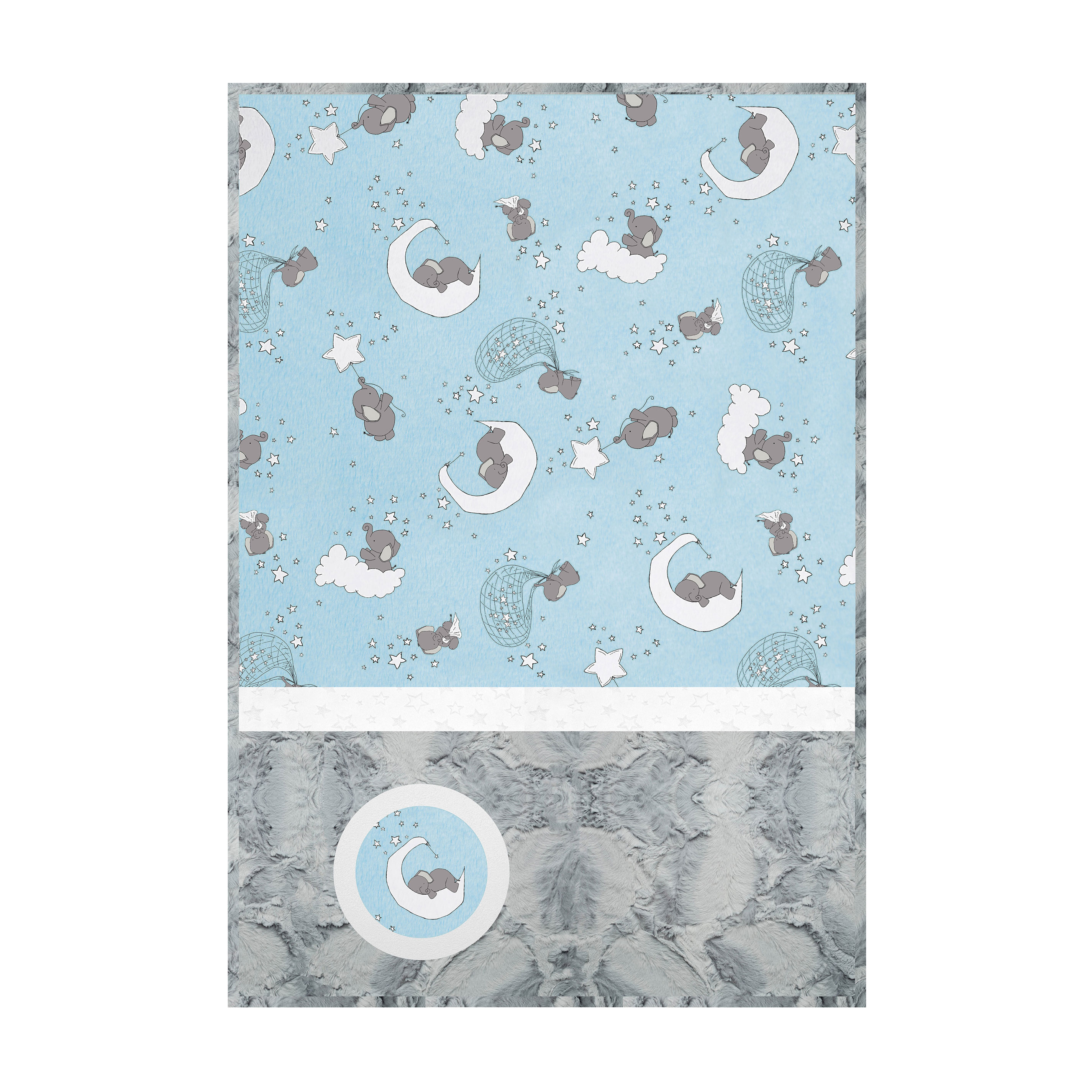 Minky Lullaby Cuddle Kit Lucky Star Blue by Shannon in USA