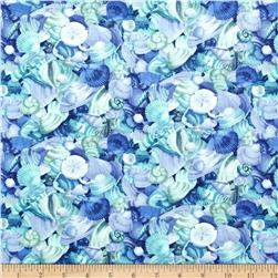 Moda Coastal Breeze Shell Collection Ocean