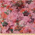Bali Batiks Handpaints Asian Floral Geranium