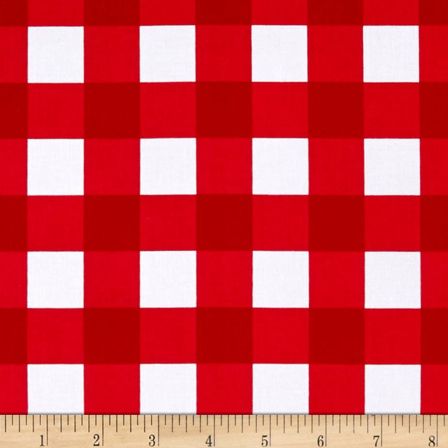 "Riley Blake 1"" Gingham Red"
