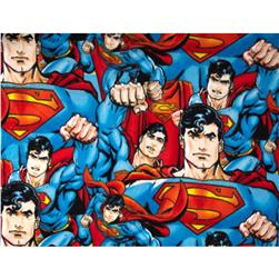 Superman Fleece Blue Fabric