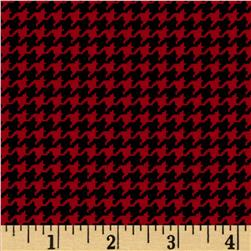 Michael Miller Tiny Houndstooth Red Fabric