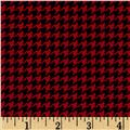Michael Miller Tiny Houndstooth Red