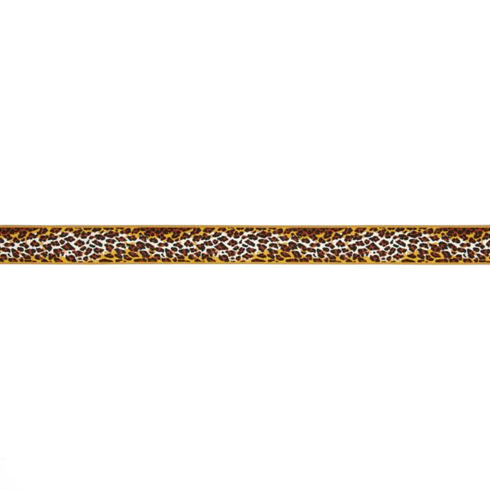"7/8"" Anna Maria Horner Ombre Leopard Ribbon Brown/Gold"