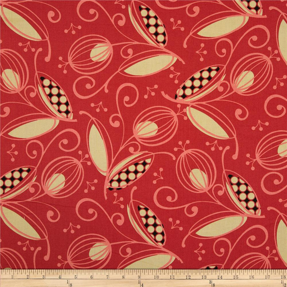 Styl Mod Large Floral Red
