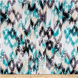 Designer Knit Teal/Black/White