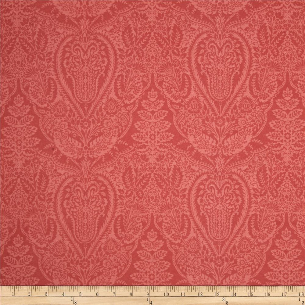 Dover flannel mono paisley coral discount designer for Paisley fabric