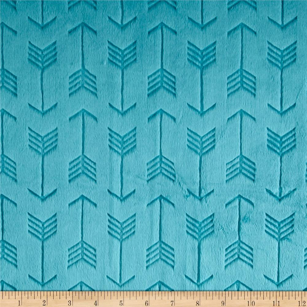 Minky Cuddle Embossed Arrow Teal
