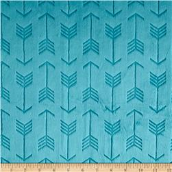 Shannon Minky Cuddle Embossed Arrow Teal