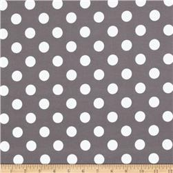 Riley Blake Flannel Basics Dots Medium Grey