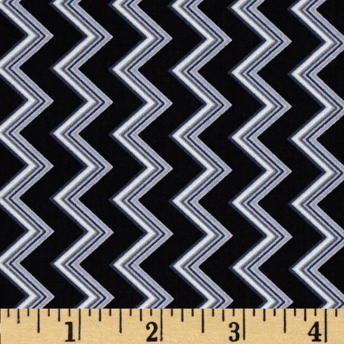 Chevron Chic Spaced Chevron Black