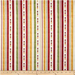 Poppy Love Ticking Stripe Creme Fabric
