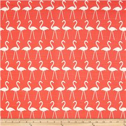 Premier Prints Flamingo Slub Salmon Fabric