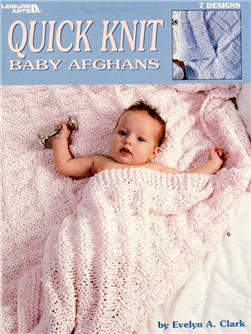 "Leisure Arts ""Quick Knit Baby Afghans"" Booklet"