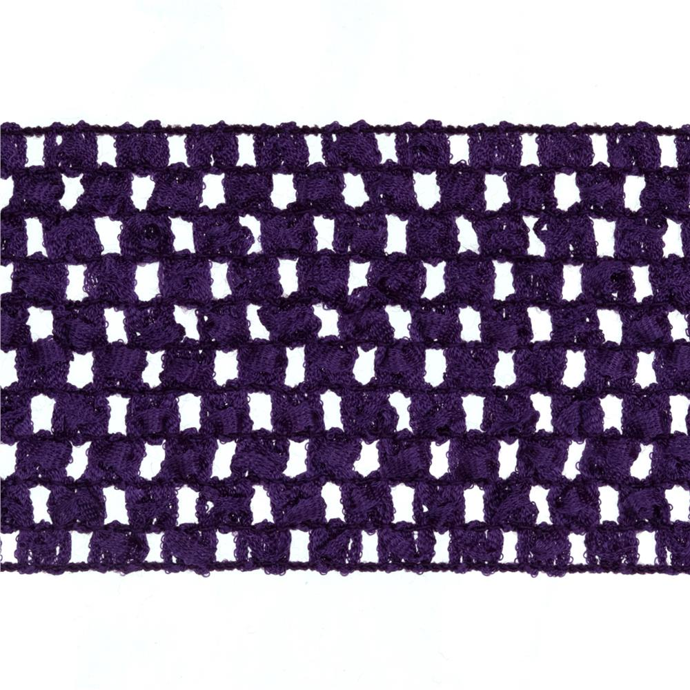 "2 3/4"" Crochet Headband Trim Purple"