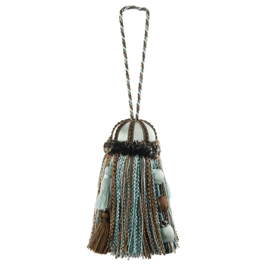 Fabricut Keelee Key Tassel Chocolate Mint