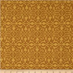 Christmas Pure & Simple Brocade Amber Fabric