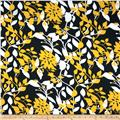 Swim Strethc ITY Jersey Knit Flowers Yellow/Black