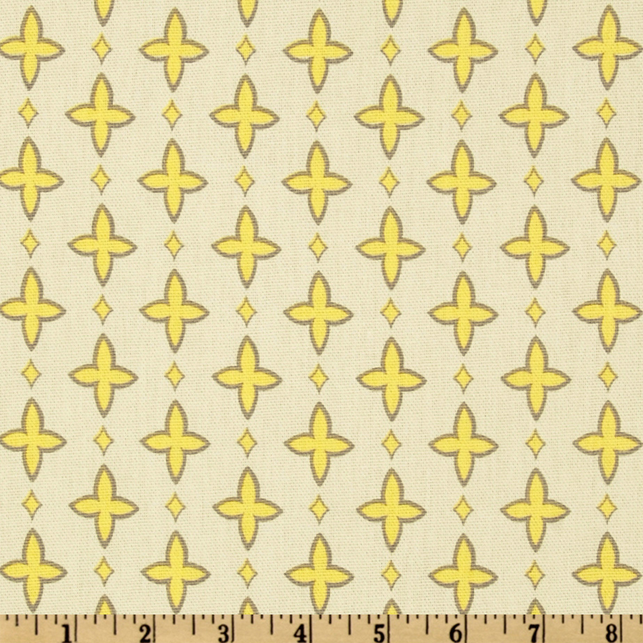 Premier Prints Aggie Lemon Fabric