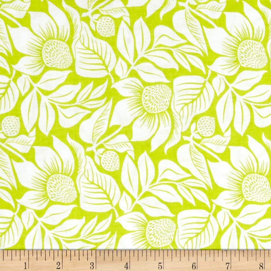 Modern Mixers Iii Large Floral Lime Discount Designer Fabric