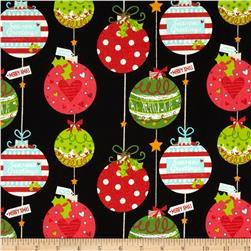 Christmas Ornaments Black