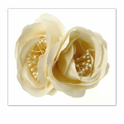 Laliberi Pin & Clip Flower Double Bloom Cream