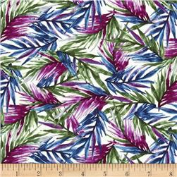 Butterfly Forest Fronds White/Multi