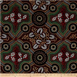 M&S Textiles Australia Sacred Woman's Song Black