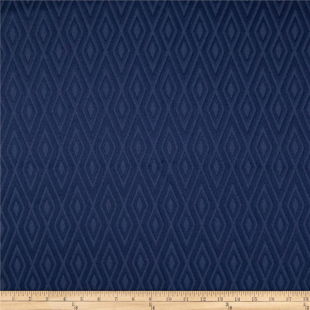 Waverly fantastical matelasse navy discount designer for Decorator fabric