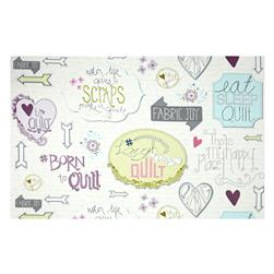 Laugh Love Quilt Writing Multi