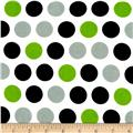 Flannel Large Dots White