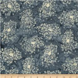 Bali Batiks Handpaints Floral Burst Smoke Fabric