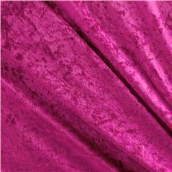 Crushed Panne Velour Bright Pink