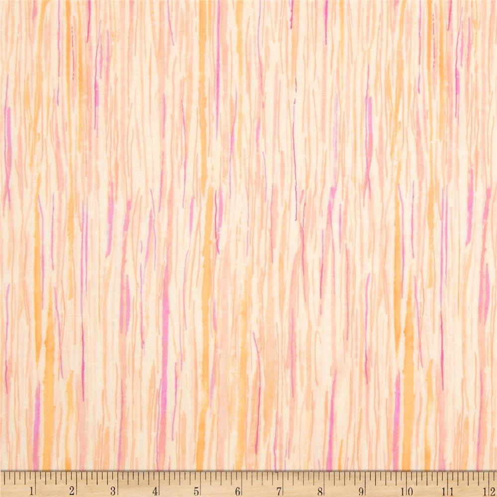 Watercolor Garden Wildwood Stripe Apricot/Mauve