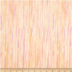Watercolor Garden Wildwood Stripe Apricot/Mauve Fabric