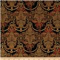Holiday Flourish Metallic Damask Black