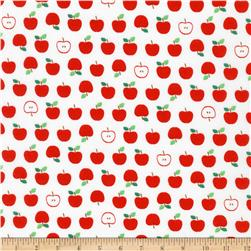 Kaufman Sevenberry Mini Prints Apples White