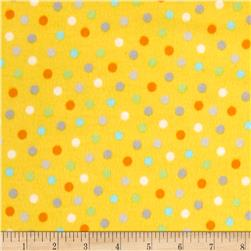 Animal ABC's Flannel Dots Yellow