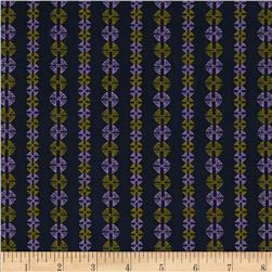 Amy Butler Bright Heart Stitchy Dots Navy